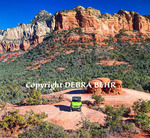 Rental Jeep explores the Broken Arrow area of Sedona