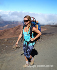 Hiker on the Sliding Sands Trail at Haleakala National Park