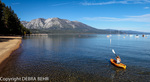 Kayaker in Lake Tahoe