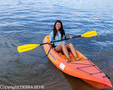 Woman in kayak in Lake Tahoe