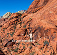 Adventurer highlining at Red Rock Canyon National Conservation Area