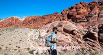 Hiker at Red Rock Canyon National Conservation Area