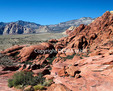Visitors explore Red Rock Canyon National Conservation Area