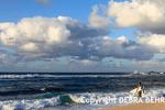 Surfers at Hookipa Beach