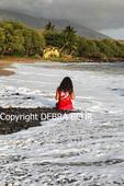 Girl at Canoe Beach on Maui