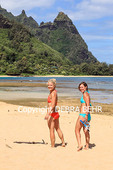 Snorkelers at Tunnels Beach on Kauai