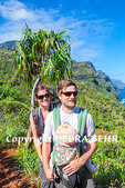 Couple with baby on the Kalalau Trail on Kauai