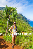 Hiker on the Kalalau Trail