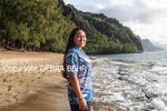 Kauai teenager at Kee Beach on Kauai