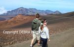 Couple hiking the Sliding Sands Trail at Haleakala National Park