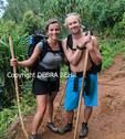 Honeymooners backpacking on the Kalalau Trail on Kauai