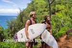 Surfers on the Kalalau Trail