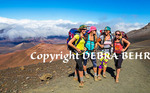 Backpackers on the Sliding Sands Trail at Haleakala National Park