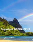 Double rainbows at Mt. Makana, called Bali Hai, on Kauai