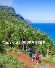 Hikers on the Kalalau Trail on Kauai