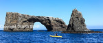 Kayaker by Arch Rock off Anacapa Island in Channel Islands National Park