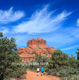 Hikers on the Bell Rock Path