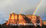 Rainbows at Courthouse Butte