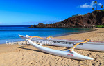Outrigger canoe used for tours at Kaanapali Beach near Black Rock