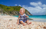 Baby at Shell Beach on St. Barts