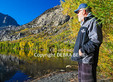 Man at Silver Lake in the Eastern Sierra, a popular trout fishing destination