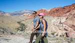 Couple hiking at Red Rock Canyon National Conservation Area near Las Vegas