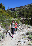 Hikers on the trail toward Shadow Lake in the Eastern Sierra