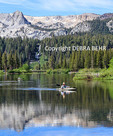 Kayakers in Twin Lakes in the Mammoth Lakes Basin