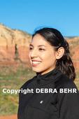 Young woman enjoys views along the Bell Rock Climb trail