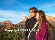 Tourists at overlook on the Bell Rock Climb trail (Editorial use only)