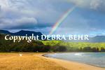 Rainbow at Hanalei Beach