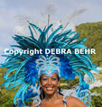 Woman participating in the St. Maarten Carnival