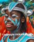 Girl parading in the St. Maarten Carnival