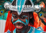 Girl parading at the St. Maarten Carnival