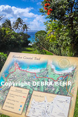 Interpretive sign for the Kapalua Coastal Trail on Maui