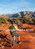 Bicyclists at the bike skills park in Sedona