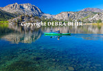 Kayaker explores Gull Lake in June Lake, California