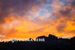 Dramatic sunset  in Mammoth Lakes, California