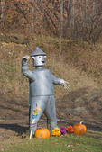Tin Man waving. Halloween