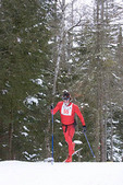 Skier with frosted face, in Craftsbury Ski Marathon