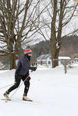 Female skier in Craftsbury Ski Marathon
