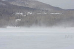 Blowing Snow. Lowell Mountains in background
