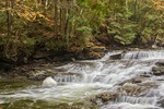 Seaver Brook falls with froth ball