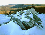 Winter vista from the South Lookout at Hawk Mountain Sanctuary