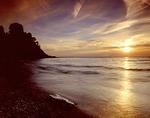 Sunset over Lake Erie in Pennsylvania