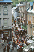 Du Petit-Champlain Street in the Old City of Quebec City, Quebec