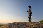 General Governor Kemble Warren statue at Gettysburg National Military Park