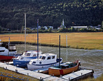 Boats docked at Petie-Riviere, Quebec