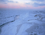 Winter ice pack on Lake Erie