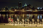 Harrisburg from City Island at Christmas